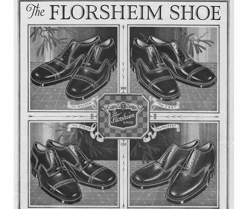 The image is from a magazine advertisement from 1926 showing different shoe styles.