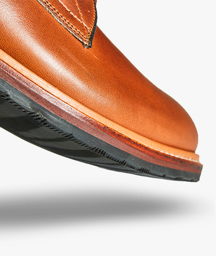 Goodyear welt construction adds flexibility, durability and allows for the shoe to be resoled. Flexible yet durable outsole offers out-of-the-box, all-day comfort.