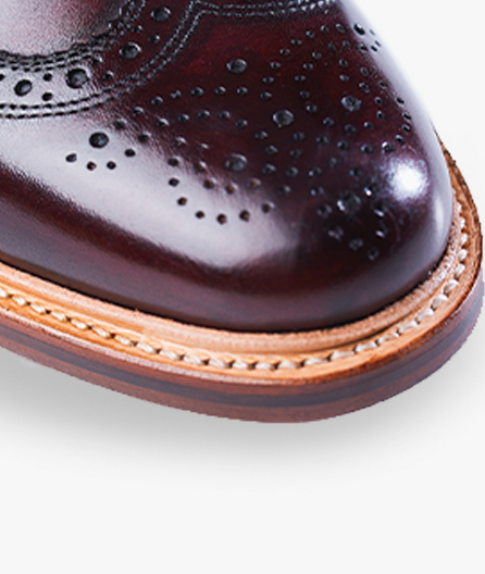 Goodyear welt construction adds flexibility and durability, and allows for the shoe to be professionally resoled.