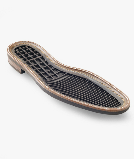 Internally cored sole for increased flexibility and cushioning.