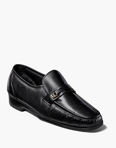Milano Moc Toe Bit Loafer in Black for 69.99 dollars.