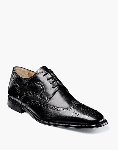 Classico Wingtip Oxford in Black for $191.90