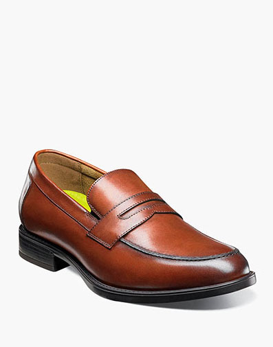 Midtown Moc Toe Penny Loafer in Cognac for $160.00