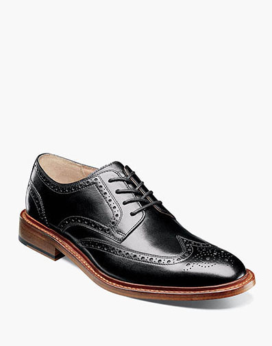 Mercantile Wingtip Oxford in Black for $280.00