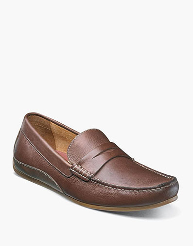 Oval Moc Toe Penny Driver in Cognac for 115.90 dollars.