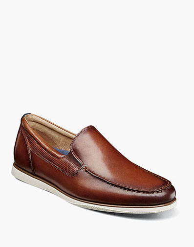 Atlantic Moc Toe Venetian Slip On in Cognac for 120.00 dollars.