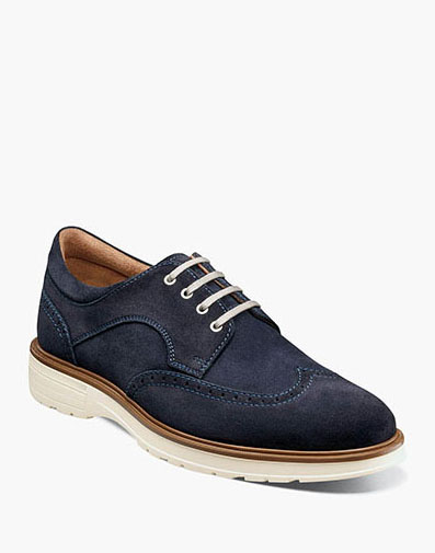 Astor  in navy suede for $145.00