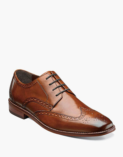 Castellano Wingtip Oxford in Saddle Tan for $79.99