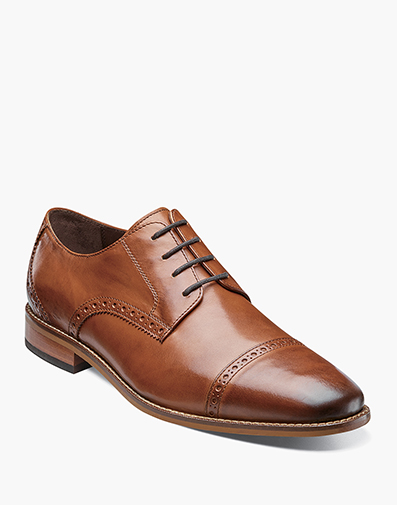 Castellano Cap Toe Oxford in Saddle Tan for $69.99