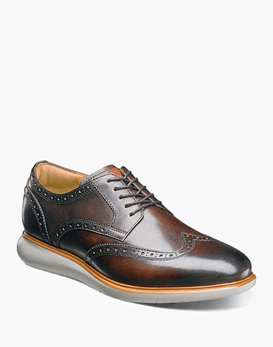 Fuel Wingtip Oxford in Brown for $175.00