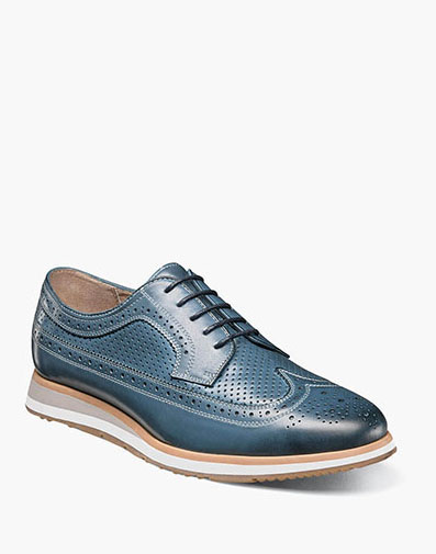 Flux Wingtip Oxford in Indigo for 143.90 dollars.