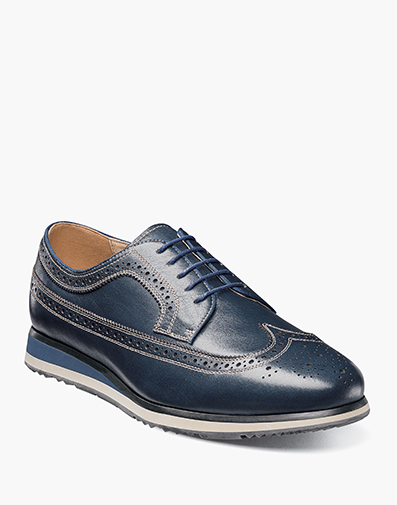 Flux Wingtip Oxford in Navy for 143.90 dollars.
