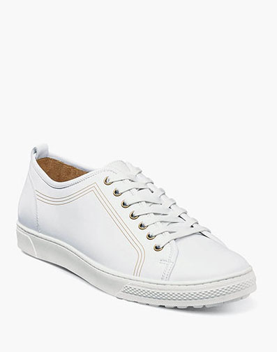 Forward Plain Toe Lace Up Sneaker in White for 111.90 dollars.