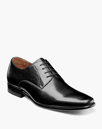 Postino Plain Toe Oxford in Black Smooth for 160.00 dollars.