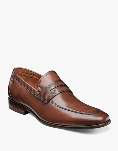 Postino Moc Toe Penny Loafer in Cognac for 160.00 dollars.