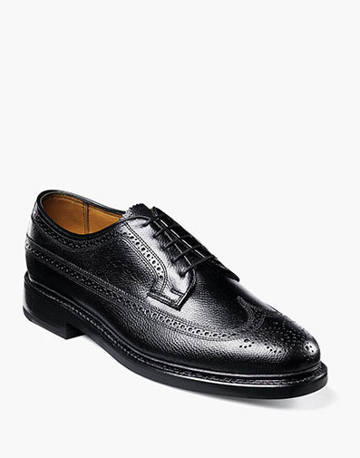Kenmoor Wingtip Oxford in Black Tumbled for $325.00